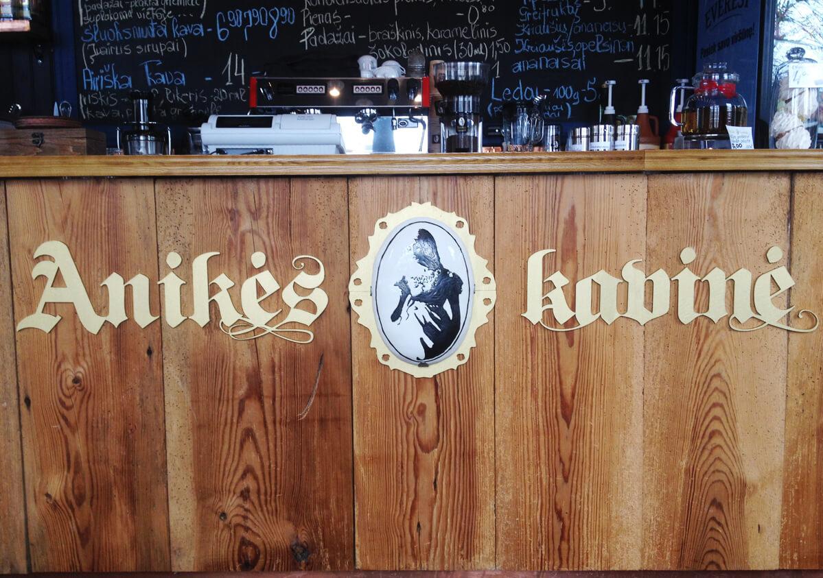 Anikės kavinės reklaminė iškaba