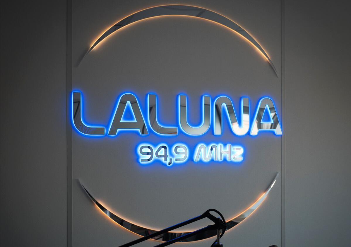 """Radijo stoties """"Lalūna"""" tūrinė reklama"""