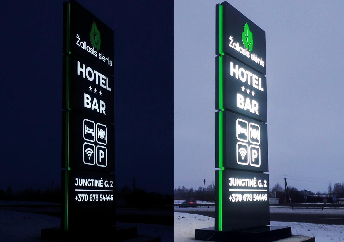 Žaliojo slėnio reklaminis pilonas