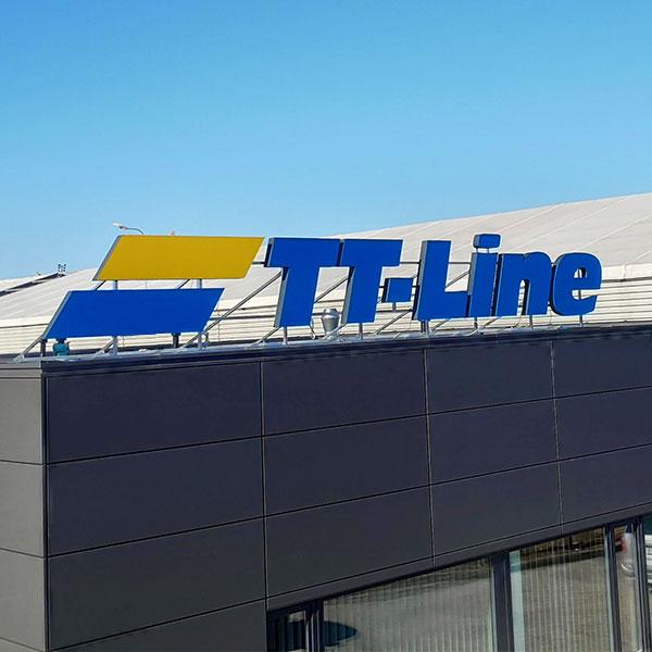 TT-Line tūrinės raidės